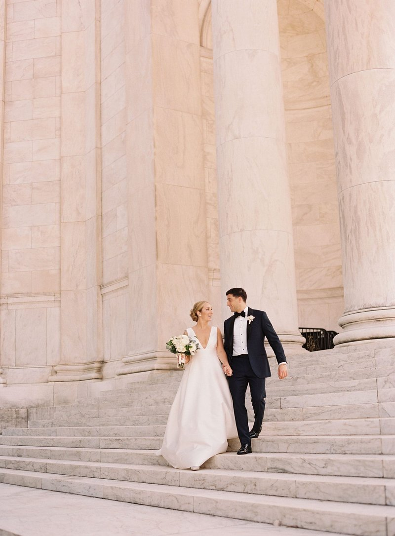 Bride & Groom with Washington, DC Monuments