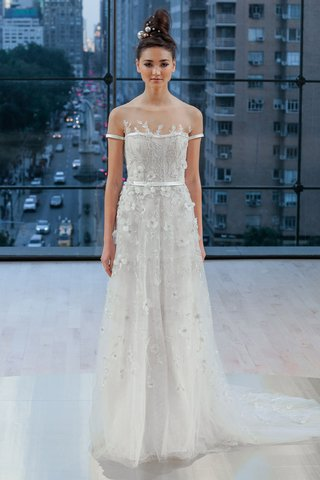 park-ines-di-santo-fall-2018-short-sleeve-wedding-dress-a-line-banding-at-sleeve-and-waist-flowers