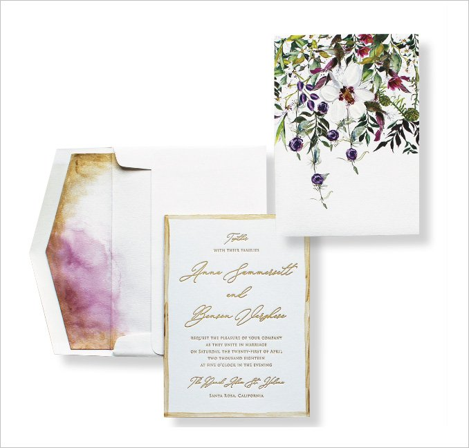 Garden Wedding Invitation by Momental Designs