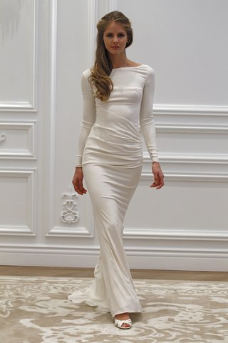 long-sleeve-high-neck-wedding-dress-bodycon