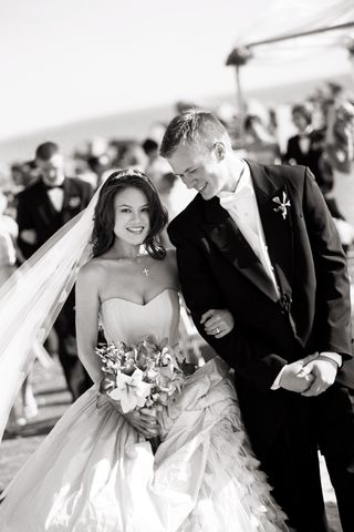 black-and-white-bride-in-ball-gown-and-groom