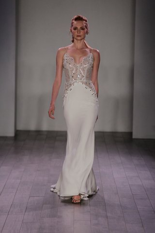 jim-hjelm-spring-2016-form-fitting-sheer-bodice-with-crystals-and-spaghetti-straps