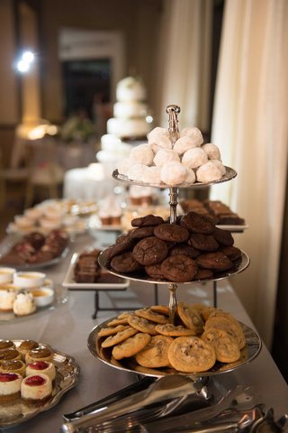 dessert-bar-sweets-table-chocolate-chip-cookies-double-chocolate-powdered-sugar-cookies