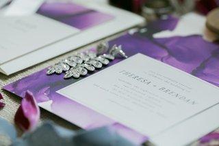 minted wedding invitation purple design for theresa tupea and brendan haywood wedding reception