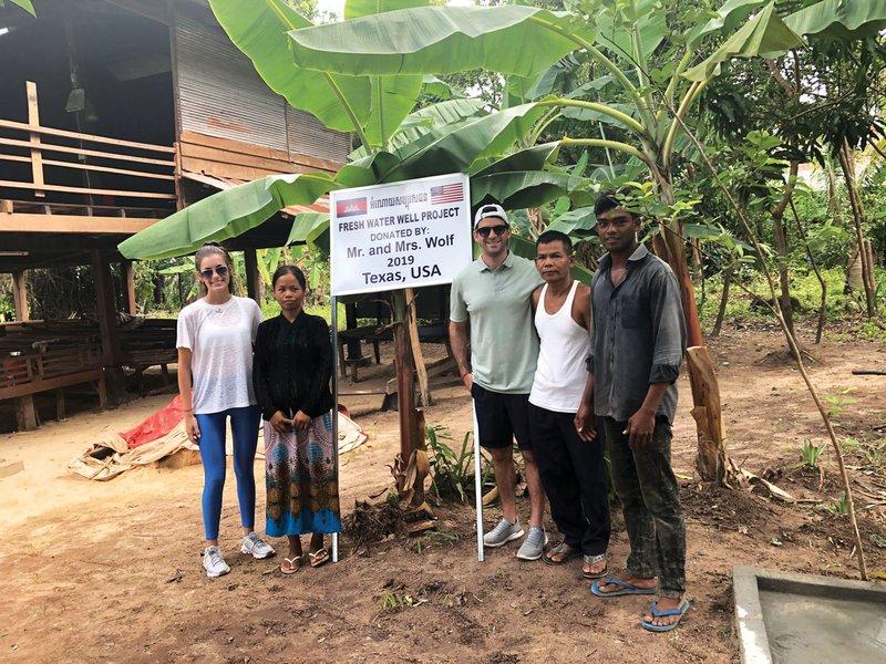 Honeymooners Donating Water Well in Cambodia