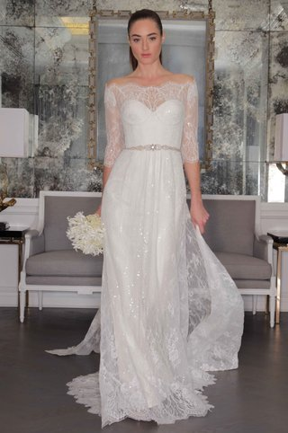 romona-keveza-luxe-bridal-fall-2016-three-quarter-sleeve-lace-wedding-dress