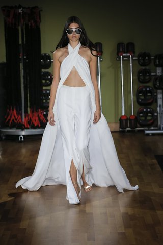 rivini-fall-2018-maxi-wrap-halter-top-with-slit-flare-pant