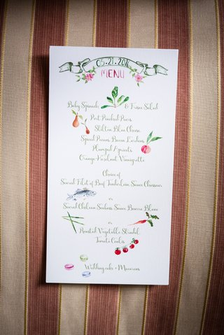 artful-reception-menu-illustrations-southern-wedding-west-virginia-creative-paper-goods-card