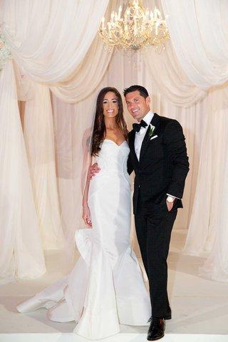 bride-in-oscar-de-la-renta-strapless-wedding-dress-with-chad-carroll