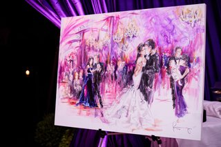 live-event-painting-of-newlyweds-dancing-at-reception