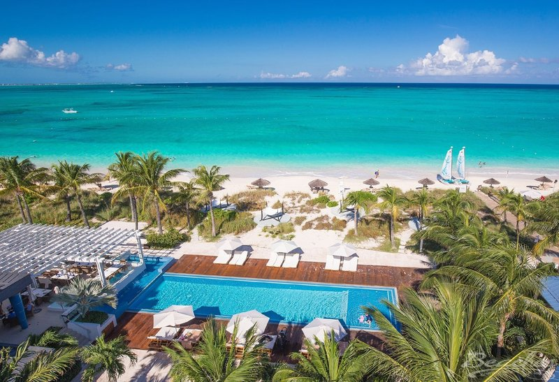 Pool with View of Grace Bay Beach