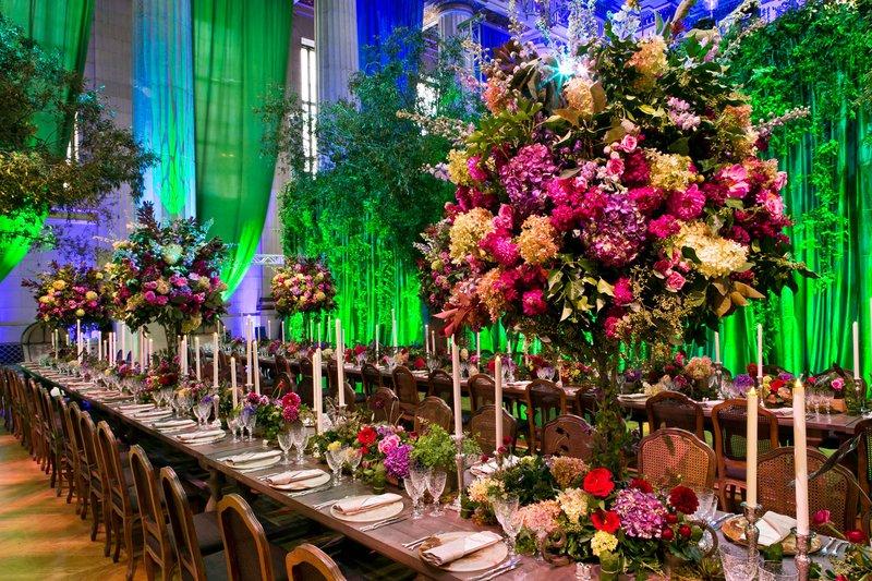 Colorful Evoke Wedding Reception