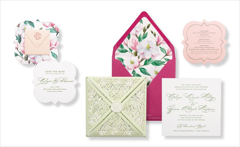 Garden Wedding Invitation by Emily Baird Design