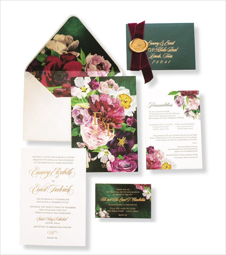 Garden Wedding Invitation by Ceci New York