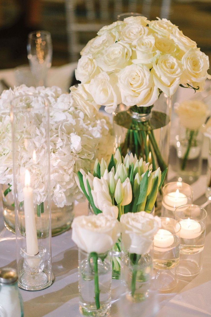Floral Centerpiece at Wedding Table