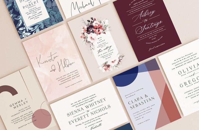 Minted Wedding Invitation Samples