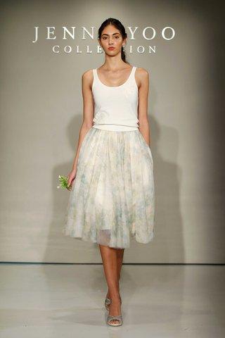 jenny-yoo-bridesmaids-2016-tank-top-and-flower-print-skirt-bridesmaid-dress