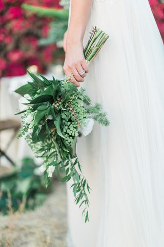 predominantly-green-mostly-green-bouquet-leaves-bridal-wedding-rustic-boho-styled-shoot-california