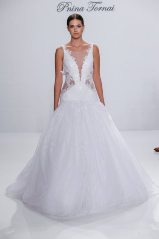 pnina-tornai-for-kleinfeld-2017-dimensions-collection-drop-waist-ball-gown-sheer-side-cut-outs-v