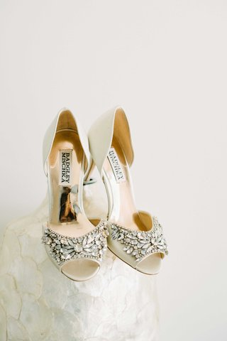 bejeweled-champagne-colored-bridal-heels-badgley-mischka-shoes-wedding-gold-reflective-maine-glam