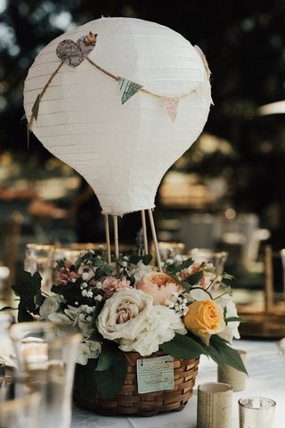 paper-lantern-wedding-centerpiece-designed-to-look-like-a-hot-air-balloon-with-basket-of-flowers