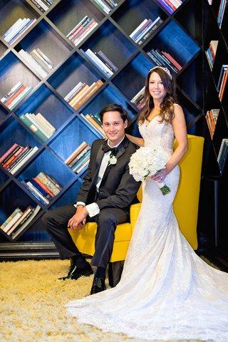 viceory-santa-monica-wedding-bride-in-eddy-k-groom-in-calvin-klein-geometric-bookshelf