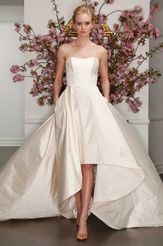 legends-by-romona-keveza-spring-2017-strapless-high-low-strapless-wedding-dress-with-lace-applique