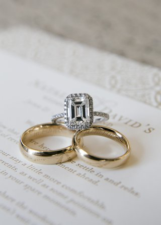 matching-gold-wedding-bands-and-halo-ring