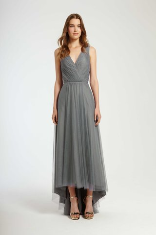 monique-lhuillier-bridesmaids-fall-2016-v-neck-bridesmaid-dress-with-high-low-skirt-in-grey