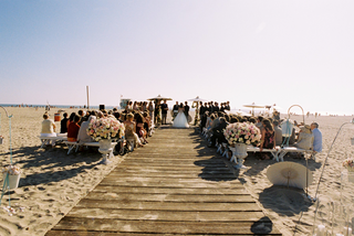 shabby-chic-beachside-marriage-ceremony