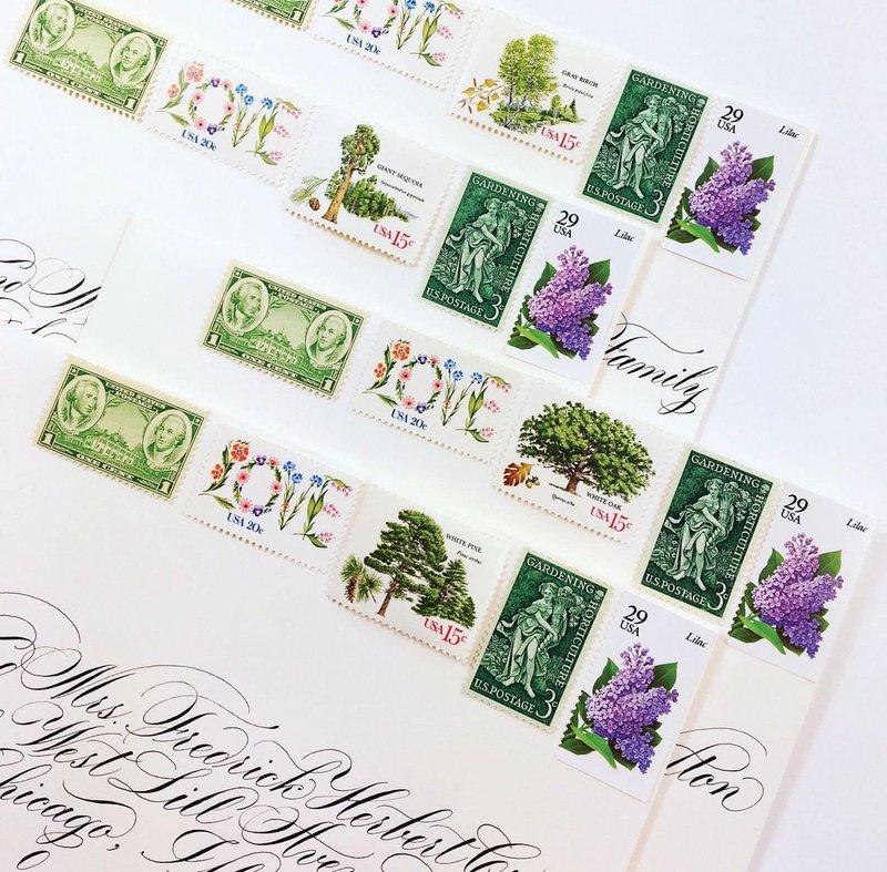 Magnolia Postage Vintage Stamps