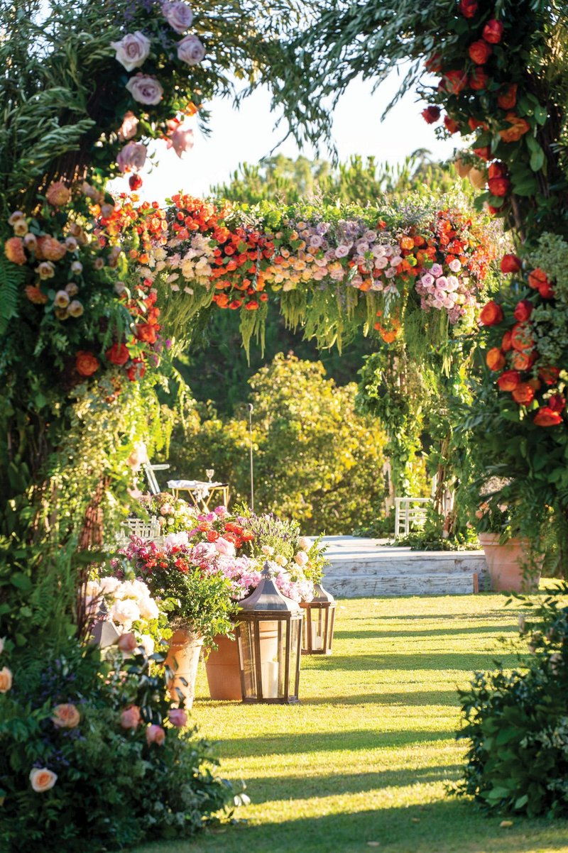 Colorful French Garden Ceremony