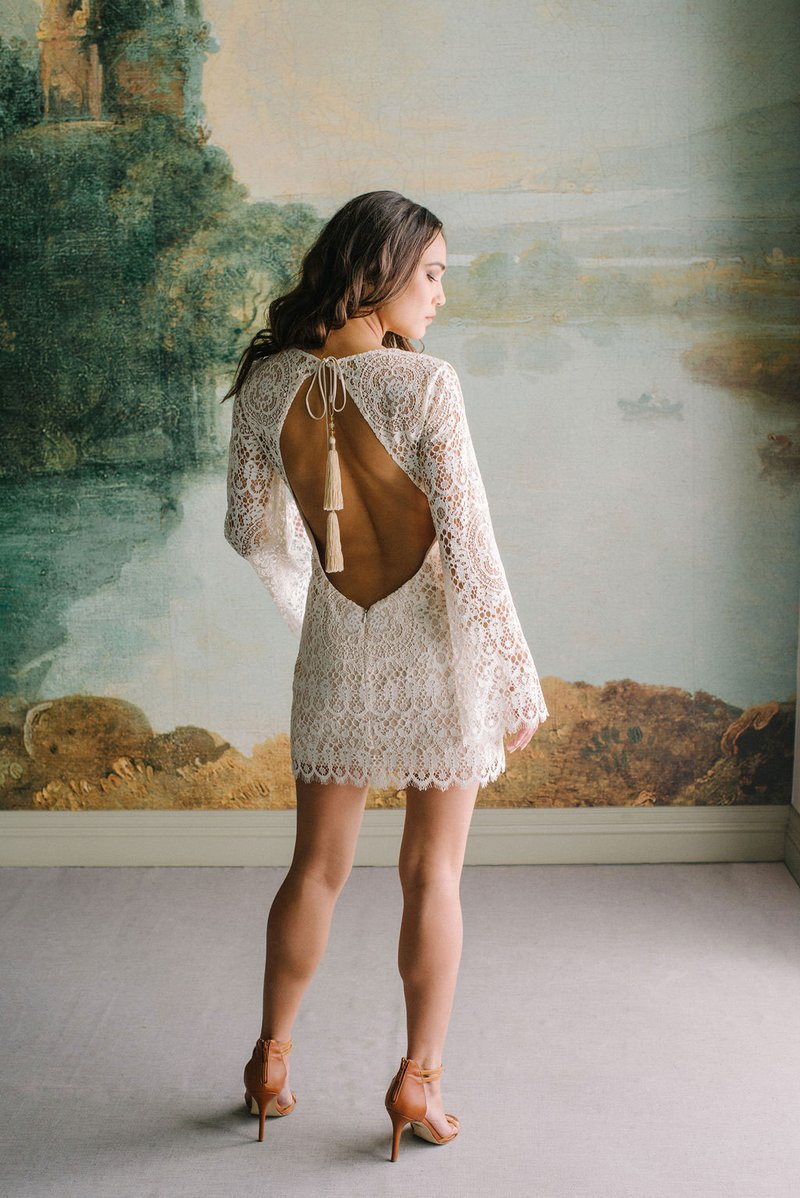 """Indie"" Lace Mini Dress by Claire Pettibone"