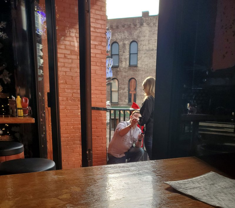 Photo of Couple Getting Engaged in Nashville