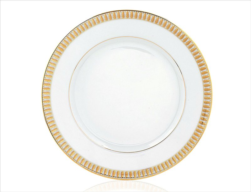 """Haviland """"Plumes"""" Gold Bread & Butter Plate"""