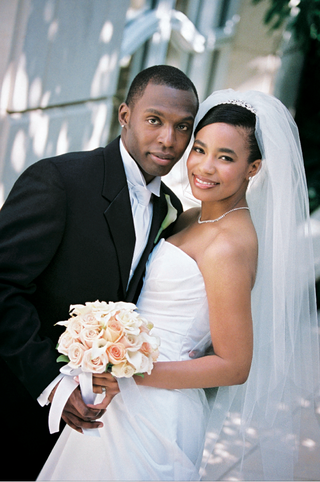 african-american-newlyweds-on-wedding-day