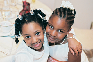 african-american-flower-girl-and-her-friend
