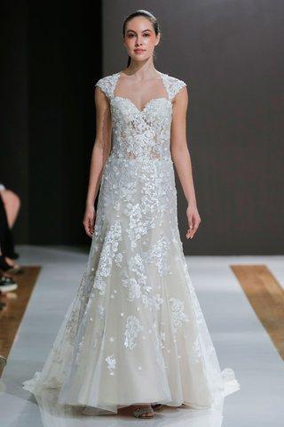 mark-zunino-spring-2018-wedding-dress-queen-anne-neckline-bridal-gown-natural-waist-sheer-corset