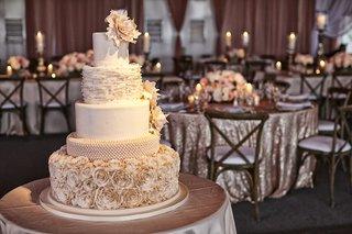 wedding-cake-with-rose-ruffle-and-peony-decorations