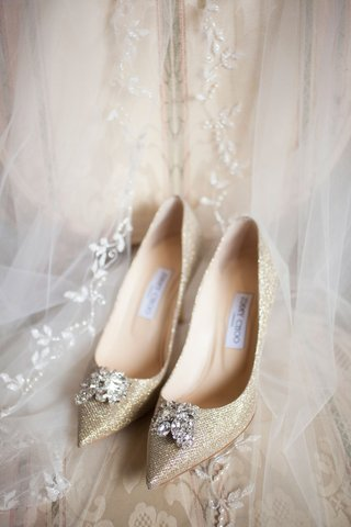 jimmy-choo-gold-sparkle-pumps-pointed-toe-crystal-toe-detail-embellishments