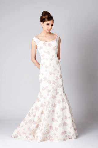 modern-trousseau-hepburn-fit-and-flare-wedding-dress-pink-and-white-flower-print-straps