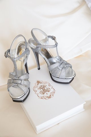 yves-saint-laurent-platform-wedding-heels-silver-glitter-high-heels-on-wedding-invitation-box