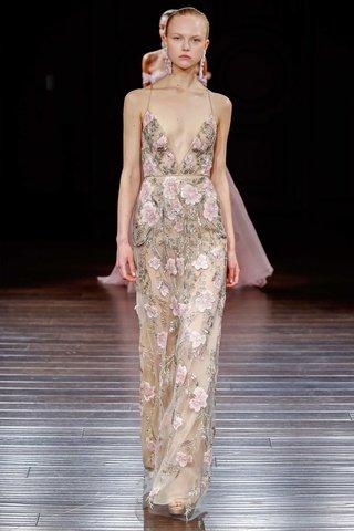 naeem-khan-sheath-flower-print-wedding-dress-spaghetti-strap-low-v-neck-plunging-kyoto-halter