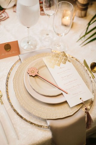 wedding-reception-place-setting-moroccan-style-gold-menu-card-tassel-laser-cut-details