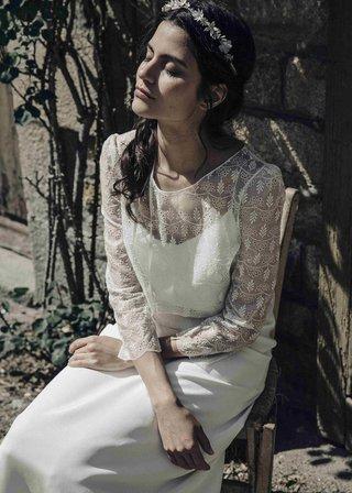 laure-de-sagazan-2017-collection-drieu-chapman-white-slip-dress-illusion-top-long-sleeves-lace