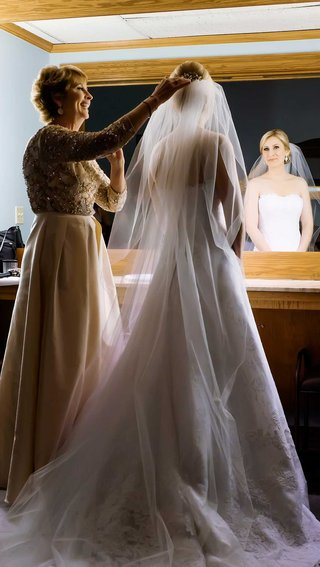brides-mother-helping-veil-long-cathedral-christian-wedding-dallas-texas-traditional-church