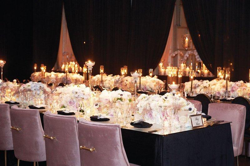 Velvet Chairs at Wedding Reception