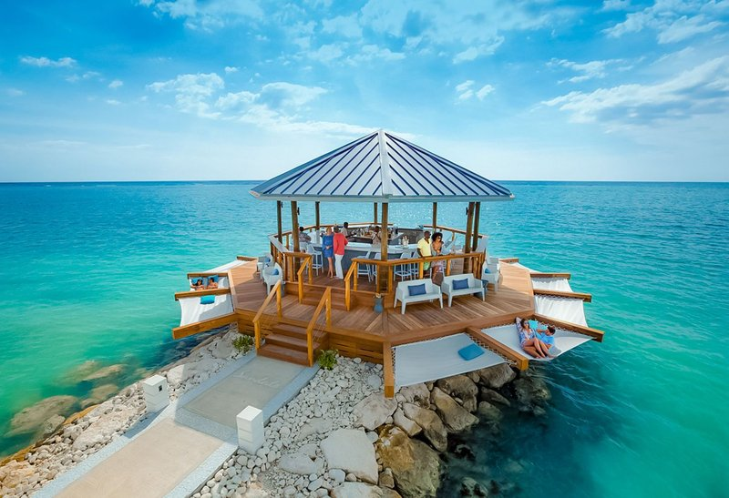 Latitudes Over-The-Water Bar at Sandals South Coast