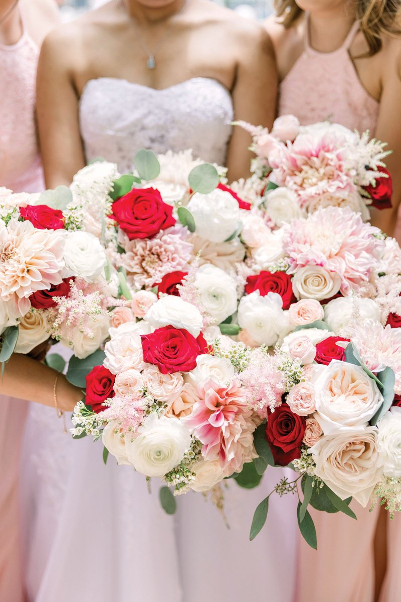 Colorful Bridal and Bridesmaid Bouquets