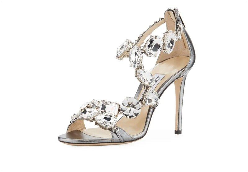 Jimmy Choo Karima Crystal Heels